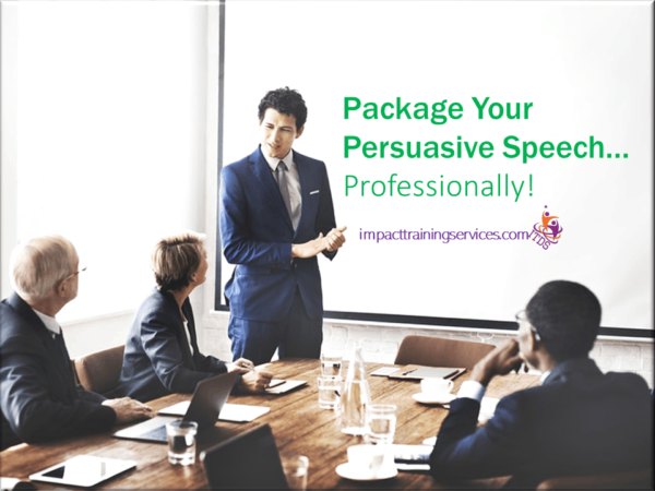 image showing how to package persuasive speech
